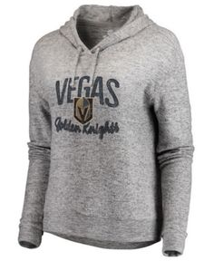 50b18f272 Authentic Nhl Apparel Women s Vegas Golden Knights Cozy Hoodie - Gray XXL  Nhl Apparel