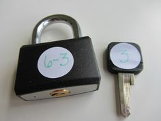 Lock & Key math activity -- looks fun!