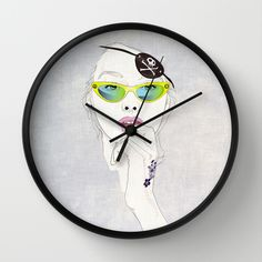Pirates Mania Wall Clock by SEVENTRAPS | Society6