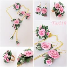 Master class Tenderness. Jewelry in the form of flowers from polymer clay. - Fair Masters - handmade, handmade