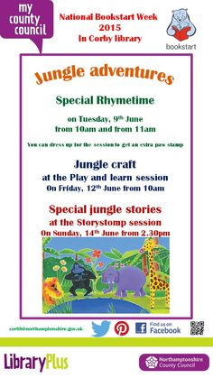 Check out all that is going on in Corby library for National Bookstart Week!