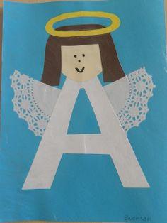 the vintage umbrella: Preschool Alphabet projects Preschool Letter Crafts, Alphabet Letter Crafts, Abc Crafts, Daycare Crafts, Alphabet Book, Preschool Christmas, Preschool Activities, Letter Tracing, Letter Art