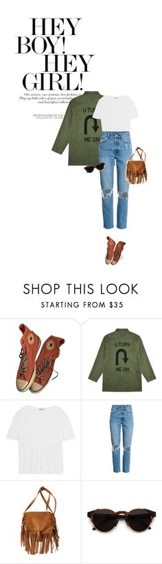 """Sunday walk"" by solespejismo on Polyvore featuring moda, Converse, Être Cécile, T By Alexander Wang, American Eagle Outfitters y RetroSuperFuture"