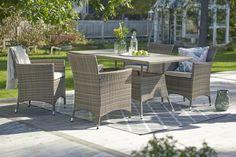PALMA-pöytä ja -tuolit. Tuoleja saatavana kolme eri mallia.