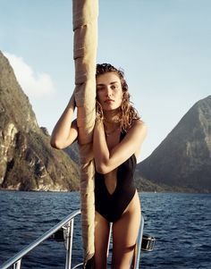 Andreea Diaconu photographed by Cass Bird - Porter Magazine Summer Escape 2015
