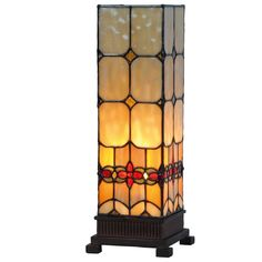 Atlantic Tiffany Medium Square Table Lamp by Tiffany Lighting Direct. Discover our range of Tiffany Lamp, Art Deco and Traditional Lighting, free delivery.