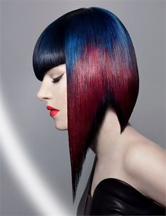 NAHA's Hair Color category shows an eye for the perfect palette and coloring techniques. Creative Hairstyles, Cool Hairstyles, Female Hairstyles, Naha, Exotic Hair Color, Hair Color 2017, Hair Colors, Pelo Multicolor, 3 4 Face