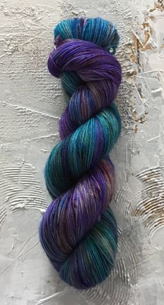 Hand Dyed Yarn - Fingering weight Yarn - OOAK 129. - merino by TuscanRose on Etsy