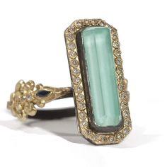 #Armenta Old World #SterlingSilver 18K Yellow #Gold #Turquoise, #Quartz & #Diamond #Ring