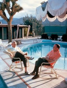 Frank Sinatra and Yul Brynner @ Palm Springs home of Sinatra.