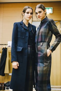 Purple, blue and mustard check all in one backstage at Paul Smith AW15 LFW. See more here: http://www.dazeddigital.com/fashion/article/23764/1/paul-smith-aw15