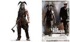 Johnny Depp as Tonto: The Lone Ranger Movie Collectible Figure