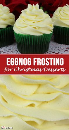 This really is the Best Eggnog Frosting for Christmas Desserts. Creamy and sweet and delicious, you'll never need another Eggnog Christmas Frosting recipe! It is so easy to make and boy will it be delicious on your Christmas Treats! Köstliche Desserts, Holiday Baking, Christmas Desserts, Christmas Treats, Delicious Desserts, Health Desserts, Thanksgiving Sides, Thanksgiving Desserts, Christmas Holiday