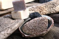 Stones from the ocean make the best exfoliants for feet! even if they are small!
