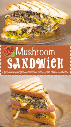 Healthy Roasted mushrooms grilled cheese sandwich that is gluten free, low carb and vegetarian #vegetarian #comfortfood #grilledcheese #mushroomrecipes #mushrooms #healthy #glutenfree https://www.healingtomato.com/mushrooms-grilled-cheese-sandwich/