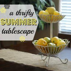 A Night Owl Blog: {Thrifty Thursday} A Summer Tablescape