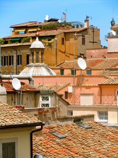 Roman Rooftops - Our hotel in Rome not only overlooked the historic Pantheon but also these gorgeous brick rooftops.  If you'd like to read about this great travel experience, click on the link for my article! http://www.newjetsetters.com/portfolioentry/albergo-del-senato-a-new-jetsetters-review/ If you come for a visit, please stop and say hello in the Comment section & let me know you're from 500 pix! I'd love to hear from you, my friends!