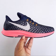 new products 618bf 949d5 Nike Shoes | Nike Air Zoom Pegasus 35 Blue Orange Women Size 8 | Color: