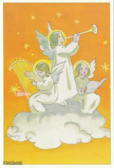 Martta Wendelin Christmas Angels, Christmas Cards, Xmas, Angel Pictures, Winter Art, Inner Child, Illustrations And Posters, Altar, Bedtime