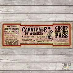 Hey, I found this really awesome Etsy listing at https://www.etsy.com/listing/247309084/carnival-halloween-party-ticket