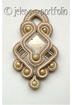 decoration, embroidery, brooch, soutache