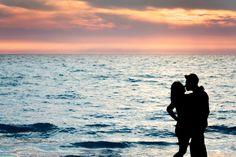 love sunset sea