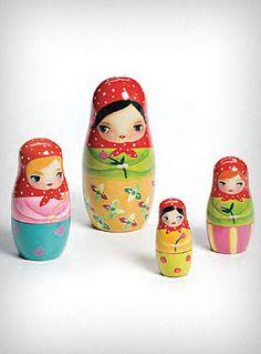"Such charmingly adorable ""bashful Russian nesting dolls""."