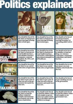Politics explained.Being a Libertarian.