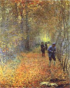 The Hunt by Claude Monet in oil on canvas, done in Now in the Musee de la Chasse et de la Nature. Find a fine art print of this Claude Monet painting. Claude Monet, Pierre Auguste Renoir, Manet, Monet Paintings, Landscape Paintings, Impressionist Paintings, Beautiful Paintings, Oeuvre D'art, Amazing Art