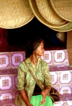Sabah North Borneo. An indigeneous woman of the Dusun tribe