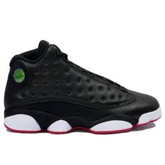 fab78feab233 414571-001 Air Jordan Retro 13 Playoffs Black White Varsity Red Vibrant  Yellow A13007 Air