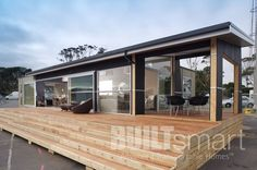 Built Smart Transportable Homes & Prefab Houses NZ Shed Homes, Prefab Homes, Kit Homes, Wood Cladding Exterior, Beach Properties, Portable House, Granny Flat, 404 Page, Cottage Homes