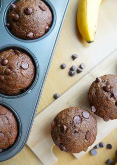 Double Chocolate Banana Muffins | tomatoboots.co