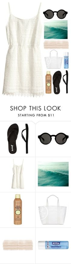 """waves"" by tan-ara ❤ liked on Polyvore featuring Reef, Monki, H&M, Sun Bum, Tory Burch, Superior, Nivea, beach, MyStyle and beoriginal"