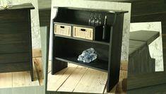 Tuto pour fabriquer un bar avec du bois + tiroirs Ikea.