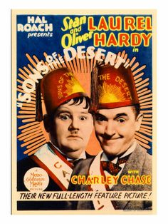 Sons of the Desert movie poster - Oliver Hardy, Stan Laurel, Mae Busch, Charley Chase  http://laurel-and-hardy.net/sons-desert/