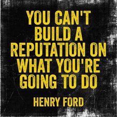 So take action