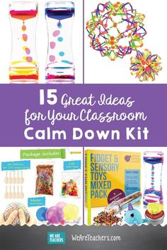 15 Great Ideas for Your Classroom Calm Down Kit. These teacher-approved products are great for your classroom to help calm down your students. Calm Classroom, Space Classroom, Classroom Behavior, Special Education Classroom, Classroom Management, Mindful Classroom, Classroom Community, Preschool Classroom, Behavior Management