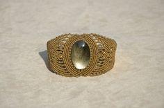 Macramé Bracelet with Golden Obsidian (natural stone)