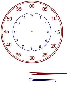 Teaching Children to Tell Time : Printable Clock Teaching Time, Teaching Math, Teaching Resources, Maths, Math Classroom, Kindergarten Math, Learning Tools, Kids Learning, Math Tools