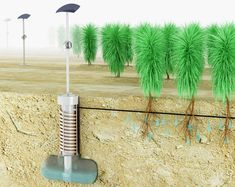 The Airdrop irrigation concept is a low-tech design that harvests water from the air. The Airdrop irrigation concept is a low-tech design that uses the simple process of condensation to harvest water from the air Natural Building, Green Building, Atmospheric Water Generator, Air Image, Water From Air, Gardening Zones, Container Gardening, Drip Irrigation, Irrigation Systems