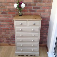 Vintage #solid pine #chest of #drawers painted in annie sloan, View more on the LINK: http://www.zeppy.io/product/gb/2/142044406127/