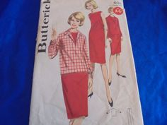 SZ 14 BUTTERICK 2805 STRAIGHT DRESS PENCIL WIGGLE SEWING PATTERN 1960S RETRO  #Butterick
