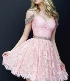 A Line Sexy Short Prom Dresses Sweetheart Lace