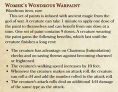 Womek's Wondrous Warpaint