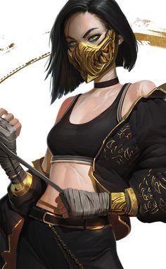 New sci fi concept art cyberpunk inspiration ideas Female Character Design, Character Design Inspiration, Character Art, Art Mortal Kombat, Akali League Of Legends, Mileena, Cyberpunk Art, Chica Anime Manga, Digital Art Girl