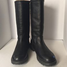 NEW UGG BROOKS ALL LEATHER BOOTS SZ 9 Ret$275 NEW WITHOUT BOX. NEVER WORN. UGG BROOKS ALL LEATHER TALL BOOTS SIZE 9 NO STAINS OR DAMAGE UGG Shoes Winter & Rain Boots