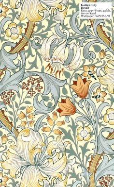 William Morris, 1899, Golden Lily Wallpaper