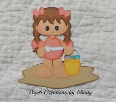 Beach Girl summer premade paper piecing for scrapbooks pages albums borders