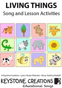 :	    Children Learn What They Sing™  'Living Things' (Lower Primary) is a curriculum-based song that highlights a variety of living things, including their different coverings, sounds, means of protection, life cycles, etc.  Young students love hearing and identifying the various animal sounds throughout the song, and the catchy chorus helps them to understand the fundamental differences between living and non-living things ~ that living things can move, grow, change.  This song-based…